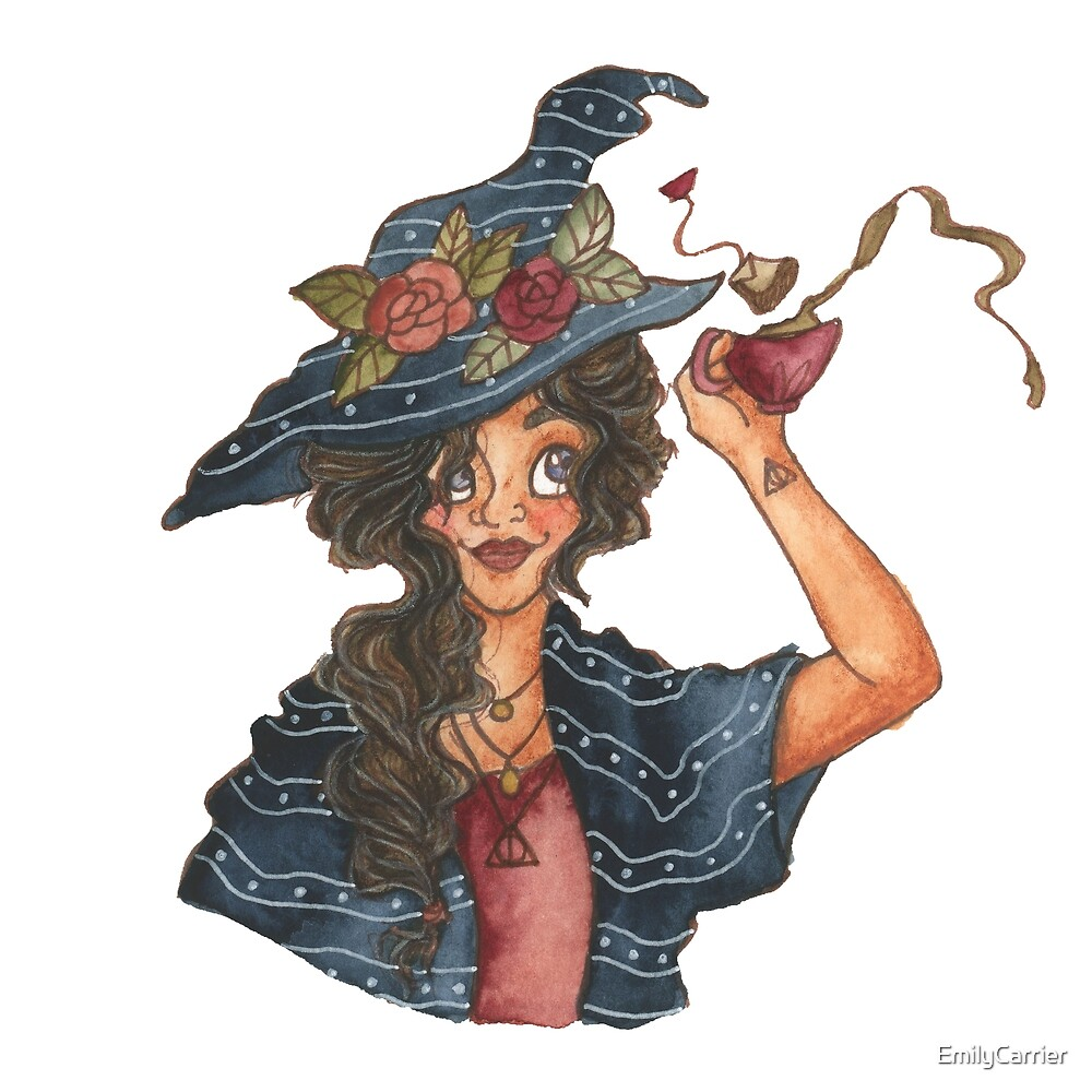 Witch with Tea by EmilyCarrier