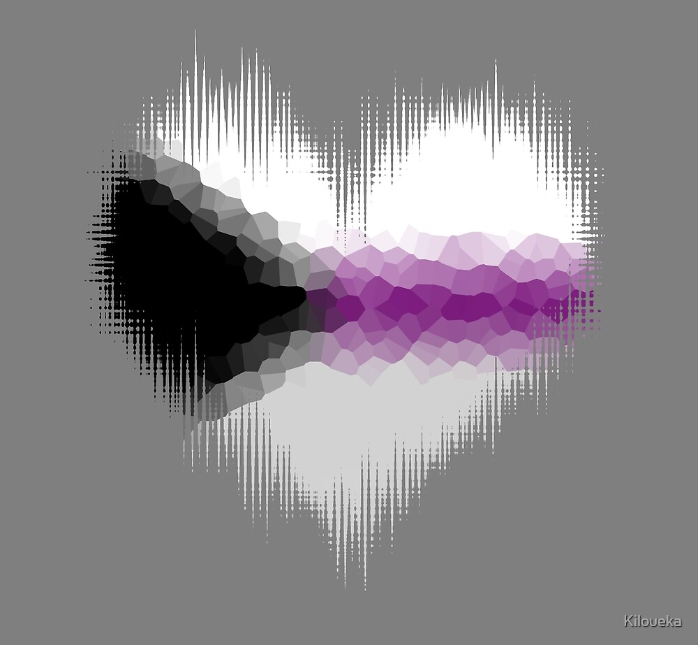 Demisexual Glitch Heart by Kiloueka