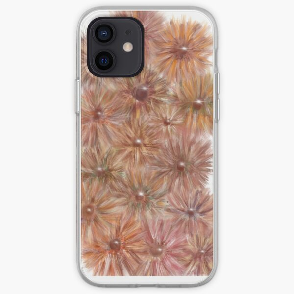 Fluffy flowers iPhone Soft Case
