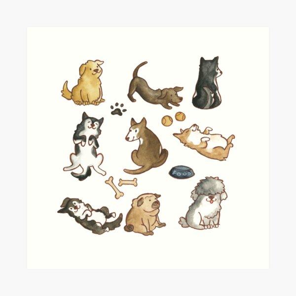 Puppies! Art Print