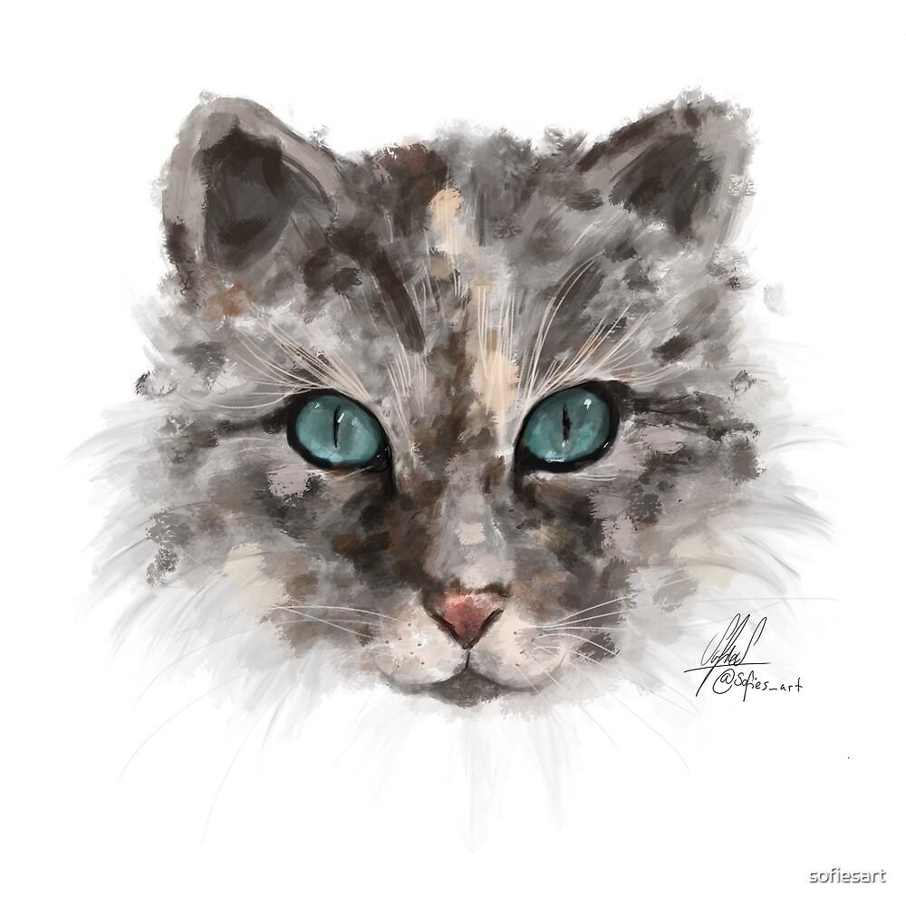Cat by sofiesart