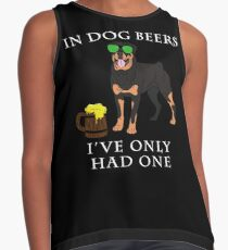 Rottweiler Ive Only Had One In Dog Beers Year of the Dog Irish St Patrick Day Contrast Tank