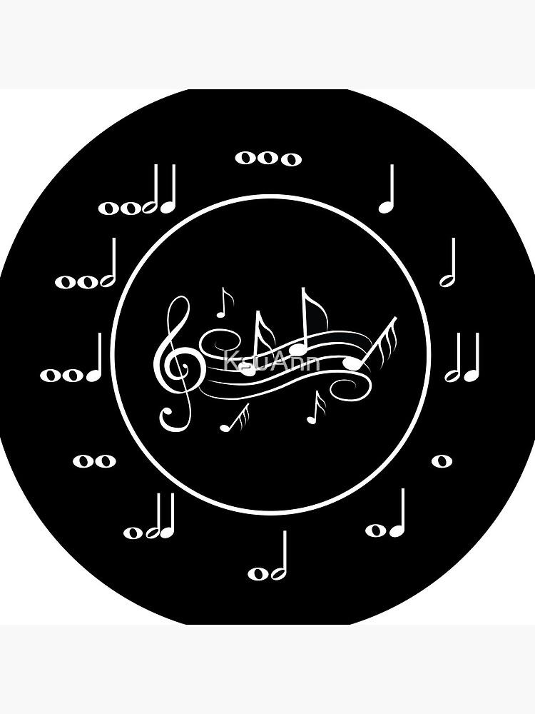 Music Clock by KsuAnn