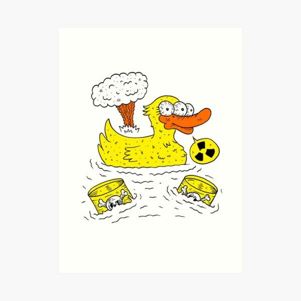 Atomic Duck Art Print
