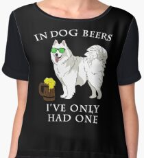 Samoyed Ive Only Had One In Dog Beers Year of the Dog Irish St Patrick Day Chiffon Top