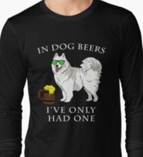Samoyed Ive Only Had One In Dog Beers Year of the Dog Irish St Patrick Day Long Sleeve T-Shirt