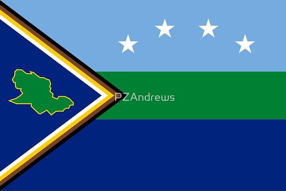 Flag of Delta Amacuro State, Venezuela by PZAndrews
