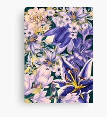 flowers blue  art #flowers #flora Canvas Print