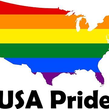 USA Gay Pride Flag Map by MADdesign