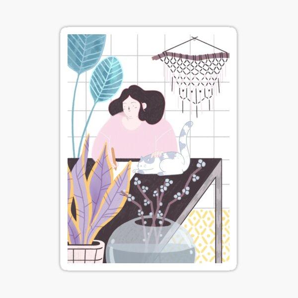 Gardenia Sticker