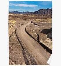 Dirt Road in Death Valley Poster