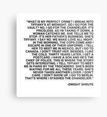 Dwight Shrute - The Perfect Crime  Metal Print