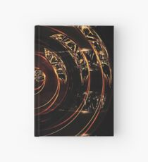 abstract gold and diamonds Hardcover Journal