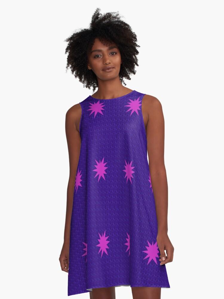 Blue purple smash A-Line Dress Front