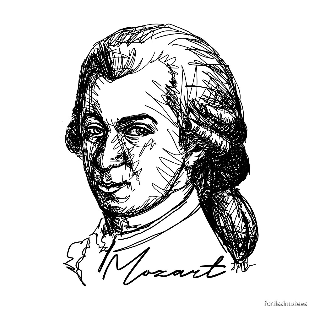 Wolfgang Amadeus Mozart  by fortissimotees