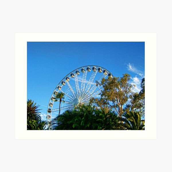 Perth Foreshore Ferris Wheel Art Print