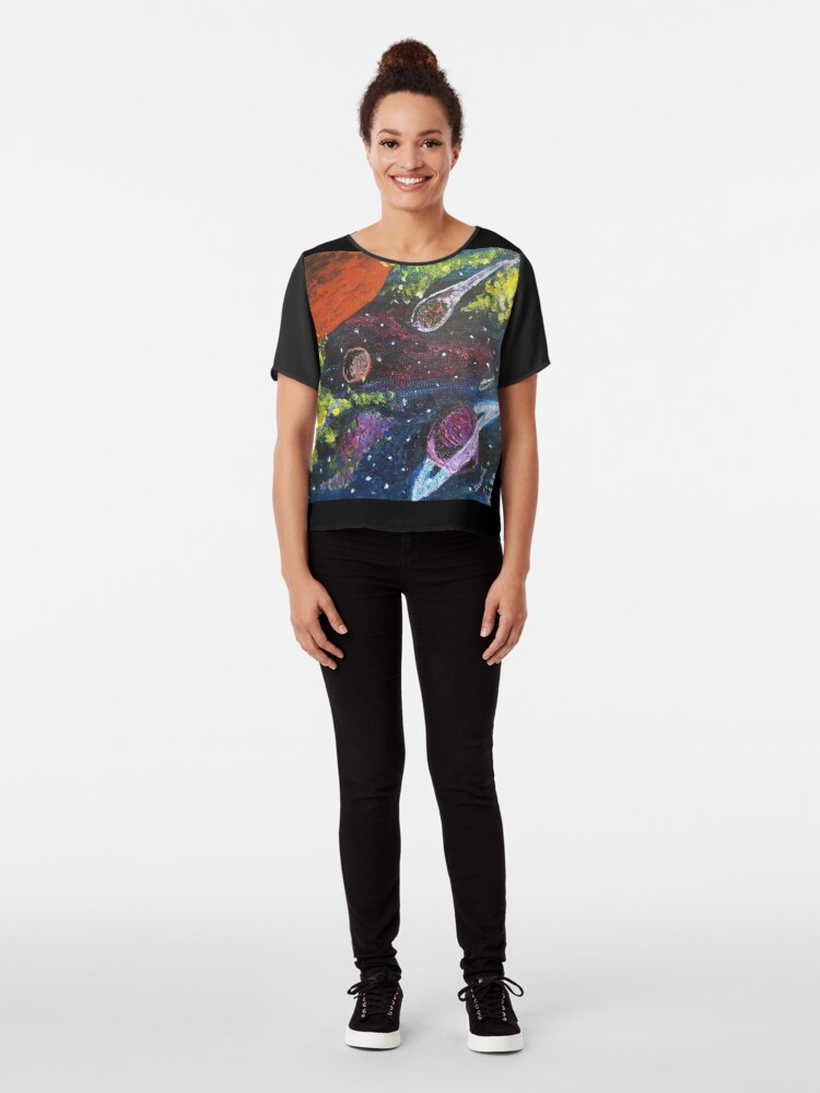 Alternate view of Space Chiffon Top