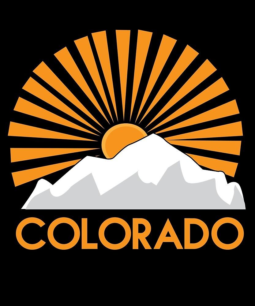 Colorado Mountain State Pride Retro Vintage by hnwc