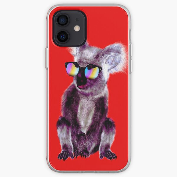 Cool Purple Koala Bear in Shades iPhone Soft Case