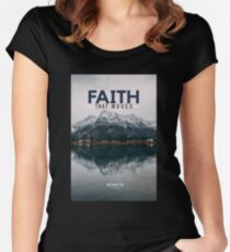 Faith that Moves Mountains - stephystv collection Women's Fitted Scoop T-Shirt