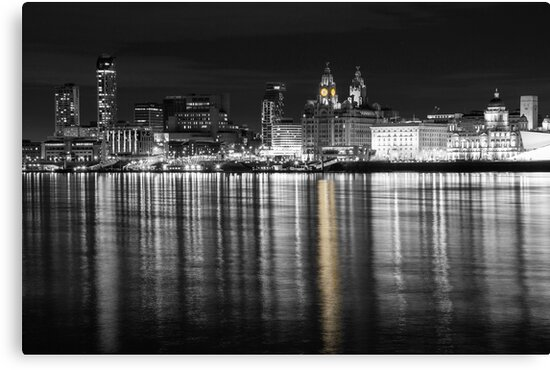 Liverpool Waterfront Selective Colour  by David Chennell