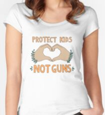 PROTECT KIDS, NOT GUNS Women's Fitted Scoop T-Shirt