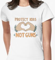 PROTECT KIDS, NOT GUNS Women's Fitted T-Shirt