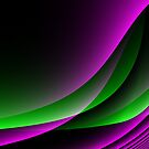 Purple Green Abstract  by Gypsykiss