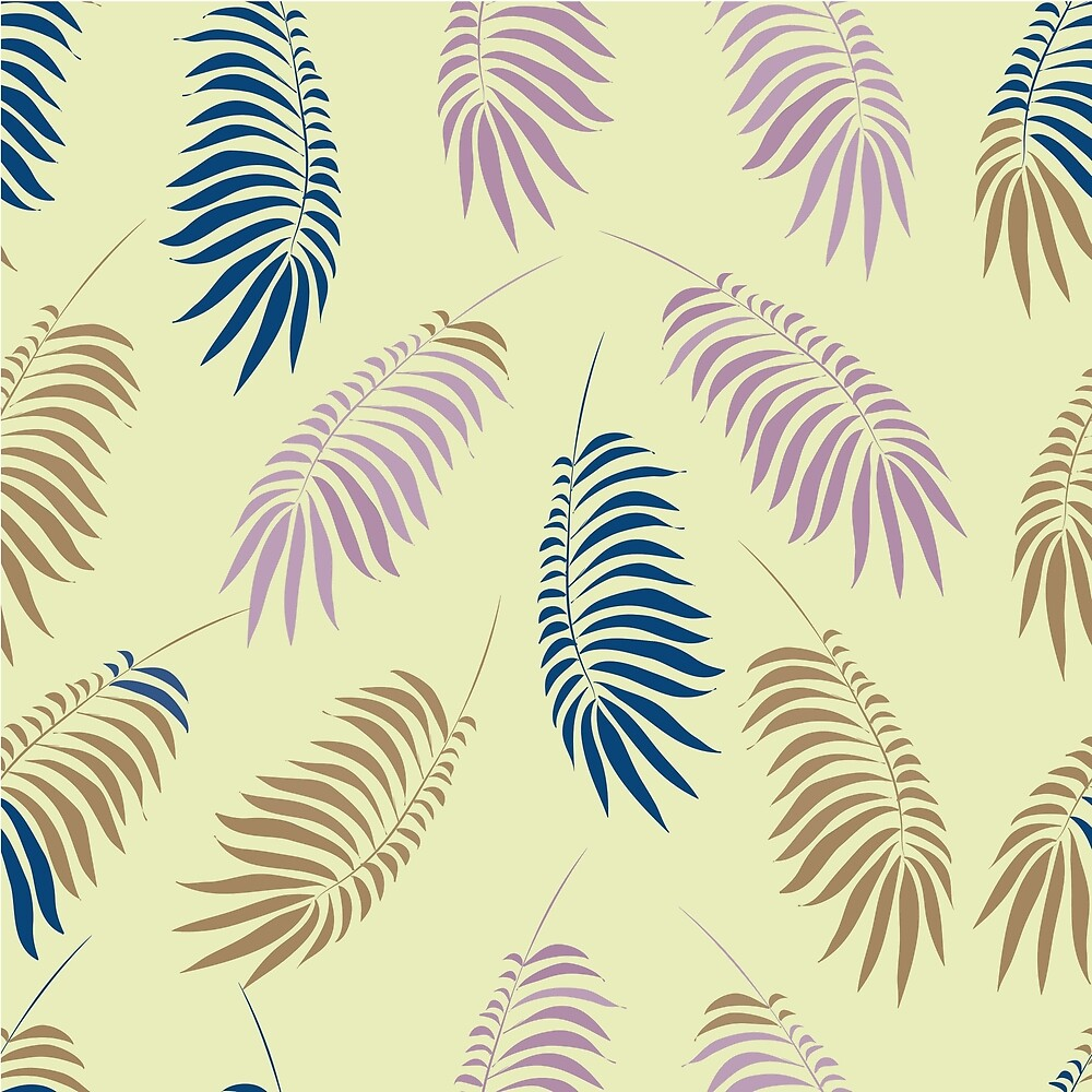 Pattern with stylized palm branches by DaHaeHey