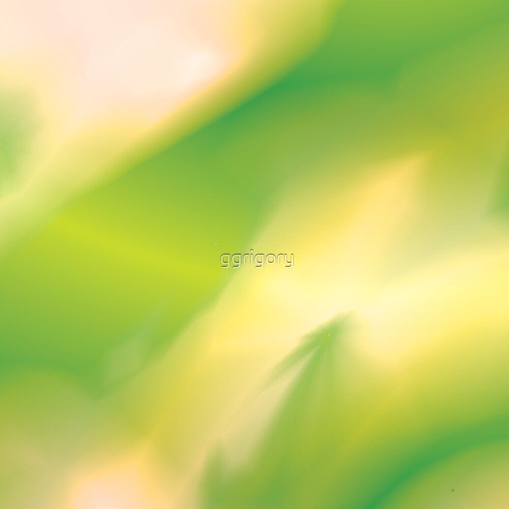 The Abstract Green and Yellow Pattern with Colorful Segments by ggrigory