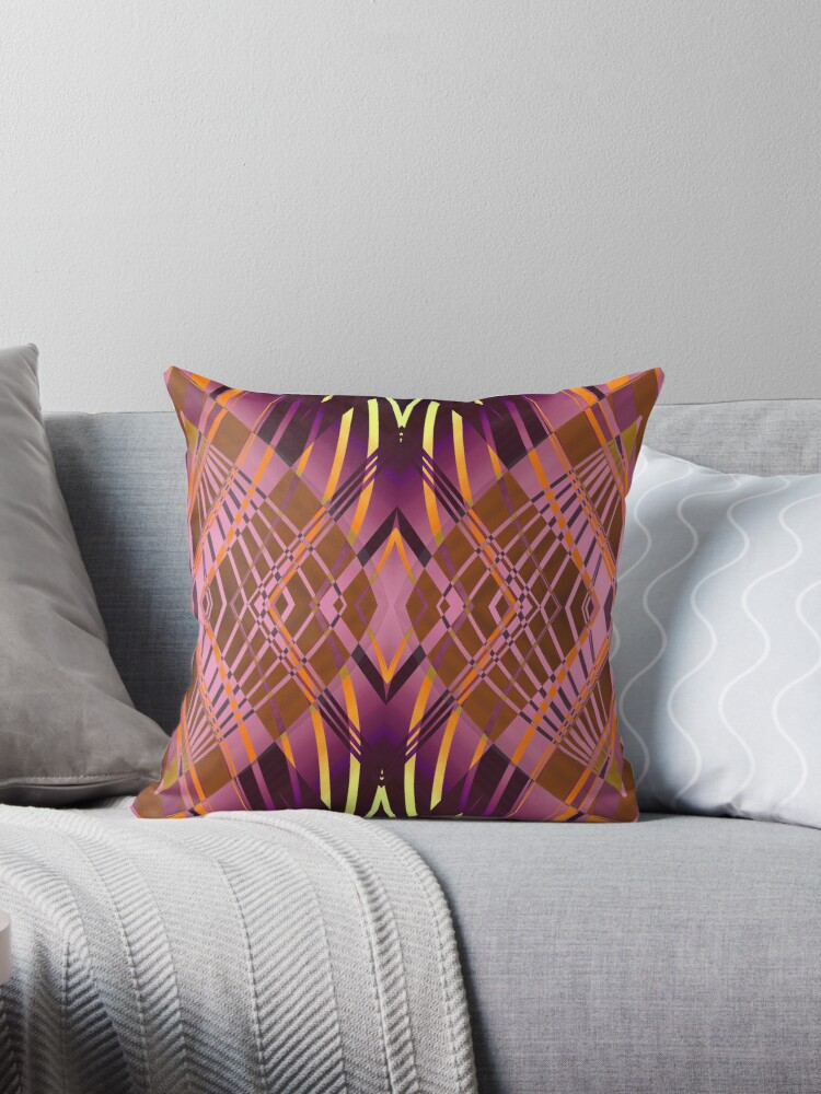 PRETTY VIOLET YELLOW SWEEPING LINE PATTERN by Pia Schneider