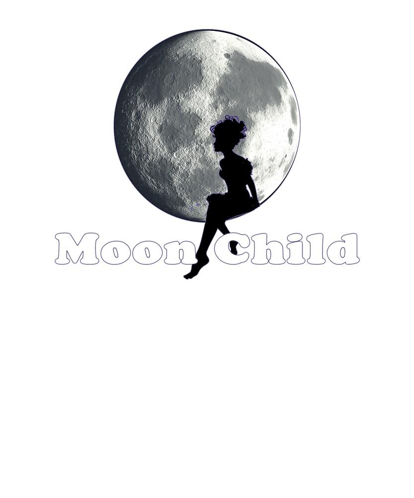 Moon Child Hippie Design by MayDayDesigns