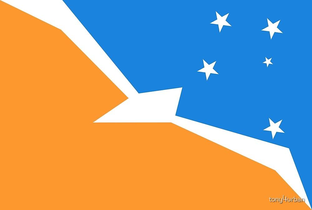 Tierra del Fuego Argentina flag by tony4urban
