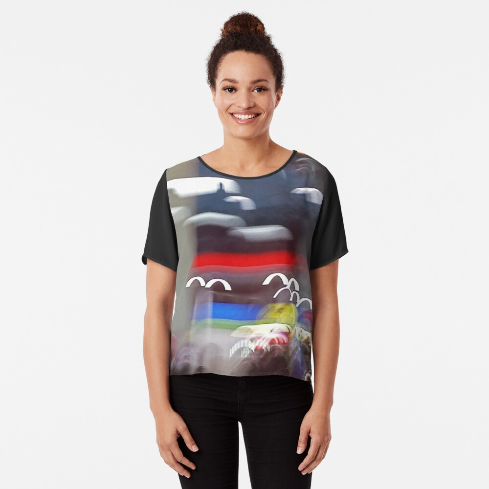 """Migration"" Women's Chiffon Top Front"