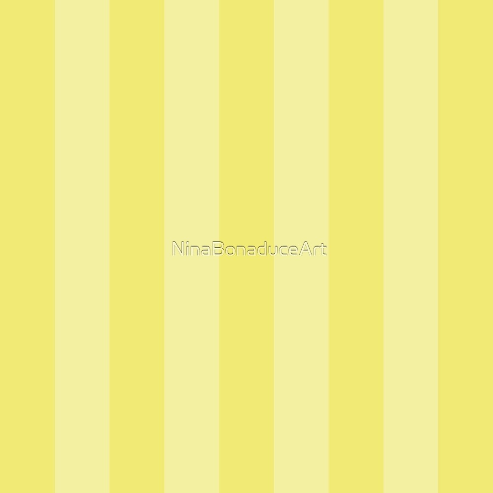 Yellow Two Tone Stripes  by NinaBonaduceArt