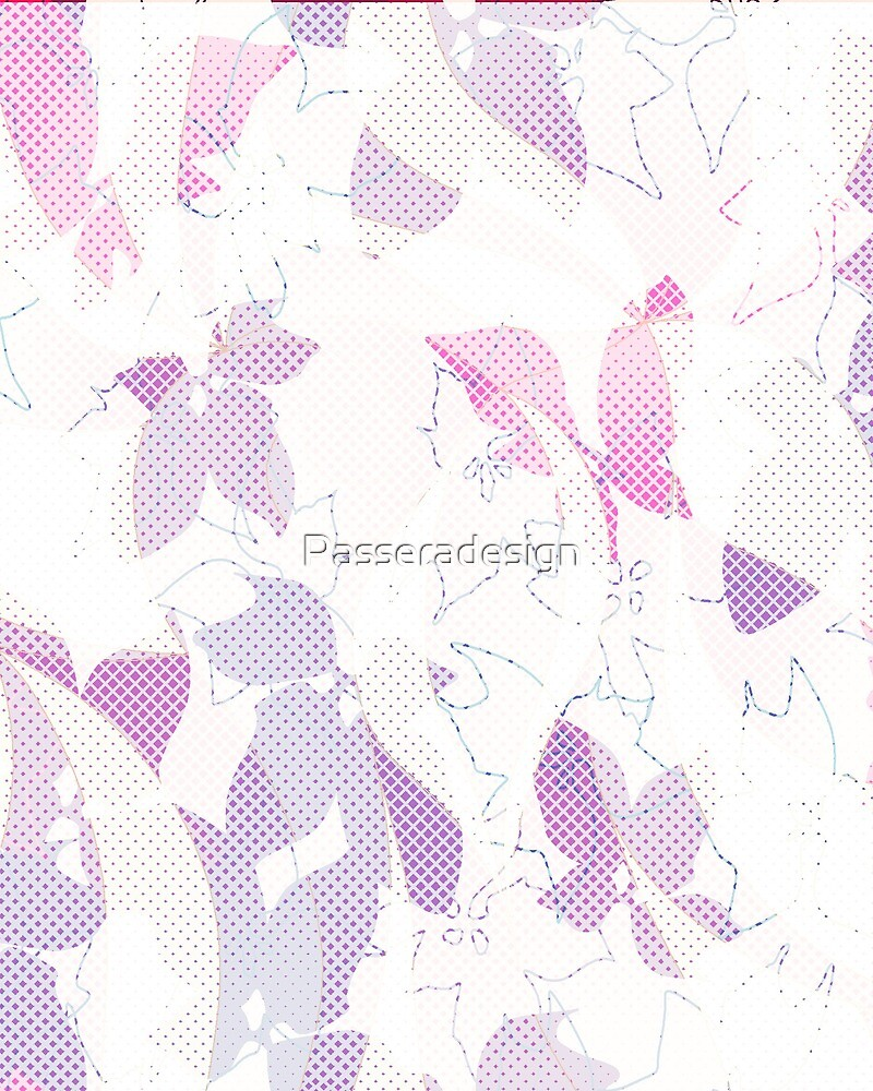 stylized flowers meets polka dot by Passeradesign