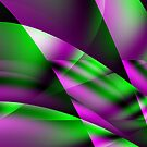 Purple Green Abstract 4 by Gypsykiss