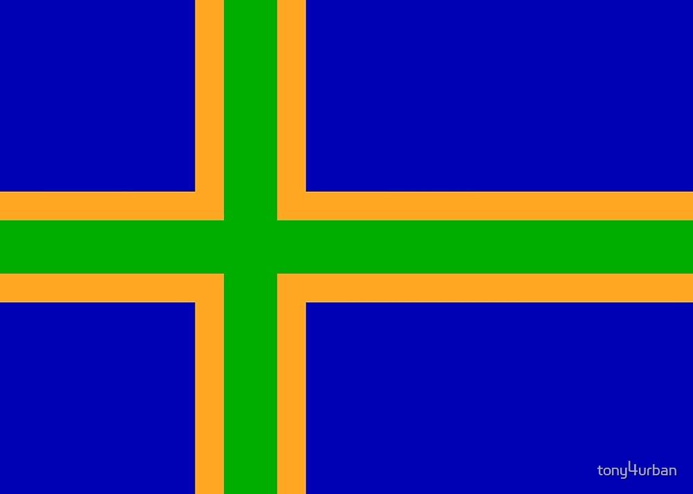 Vendsyssel Denmark flag by tony4urban
