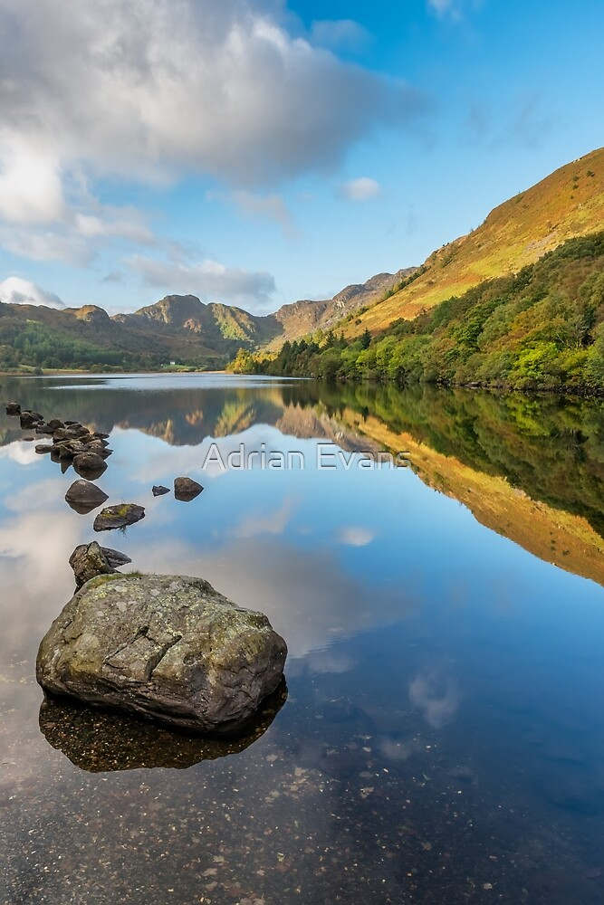 Crafnant Lake Snowdonia by Adrian Evans