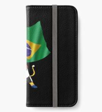 Brazil fan cat iPhone Wallet/Case/Skin