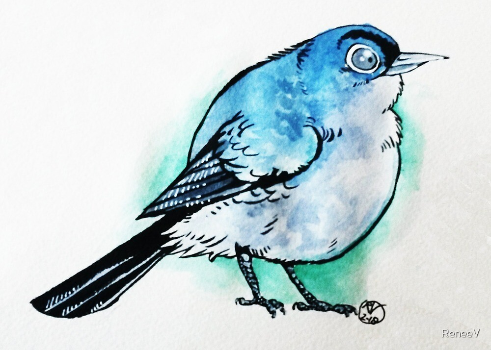 Angry little blue by ReneeV