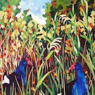 Purple Swamphens by Mellissa Read-Devine