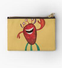 Happy Larry - friendly monster by Cecca Designs Studio Pouch
