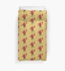 Happy Larry - friendly monster by Cecca Designs Duvet Cover