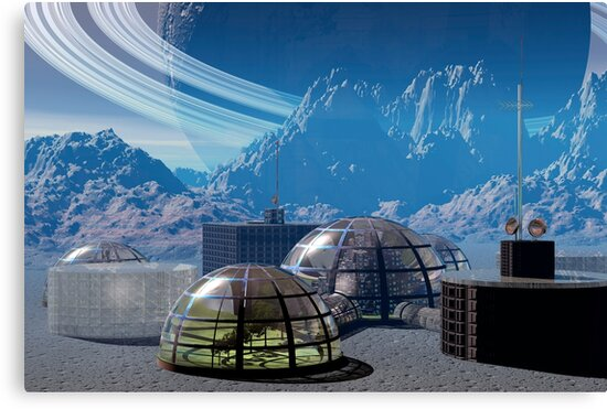 Outpost 47.  Remote base in outer space. by Carol and Mike Werner