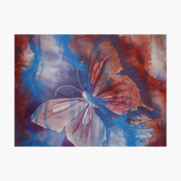 Watercolour Le Monde Papillon (Butterfly of the world) Photographic Print