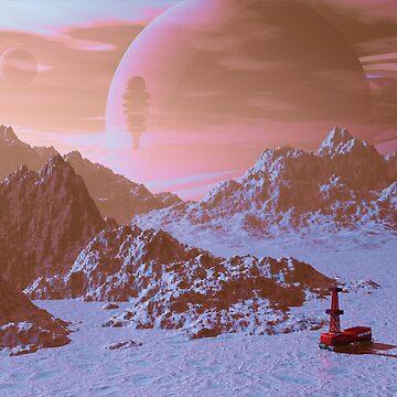 Mineral survey on an alien moon.   by fotokatt