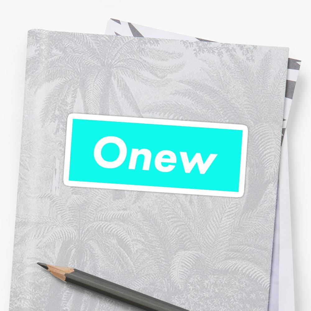 SHINee Onew Supreme Logo [Pearl Aqua Blue Version] by alyssashawol
