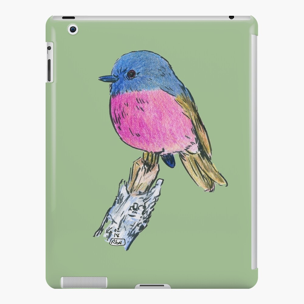Pink Robin - Bird 1 iPad Snap Case