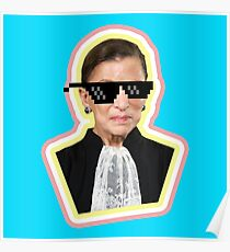 "The Notorious RBG Says ""Deal With It"" Poster"